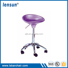 Adjustable swivel ABS bar stool high chair for wholesale