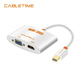 CABLETIME Mini Displayport 1.2 Thunderbolt to VGA HDMI Adapter 2in1 Mini DP to HDMI VGA Adapter