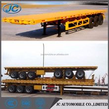 3 Axles flatbed trailer low bed semi trailer for sale