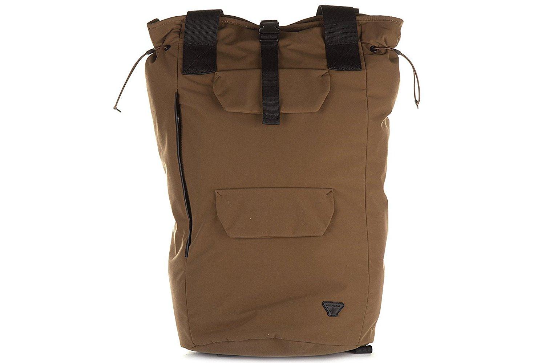 Buy Armani Jeans Mens Rucksack Backpack Travel Brown In Cheap Price