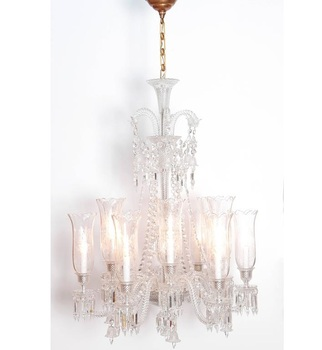 Clear glass baccarat chandelier antique indian hanging glass lamp clear glass baccarat chandelier antique indian hanging glass lamp aloadofball Image collections