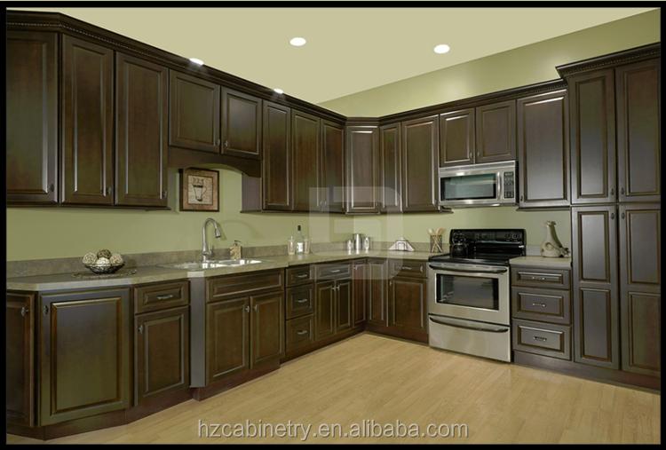 Espresso Wood American Standard Kitchen Cabinet