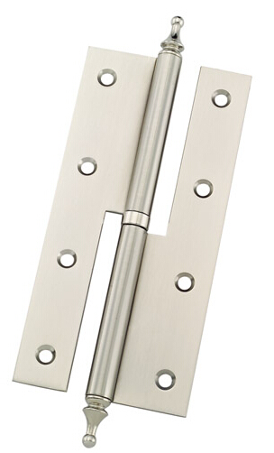 120x76 mm Brushed Nickle H Structure Lift-off Iron Door Hinge With Cap