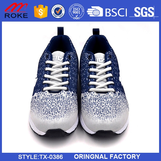 New arrival Canvas upper light sole mens running sport shoes 2017