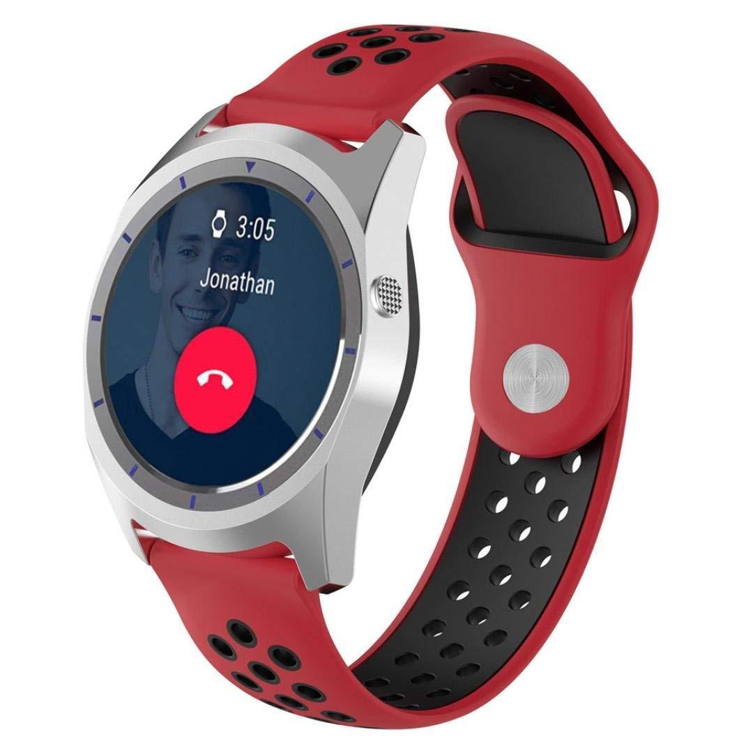 Kanzd Replacement Soft Silicagel WatchBand Strap For ZTE Quartz Smartwatch (H)