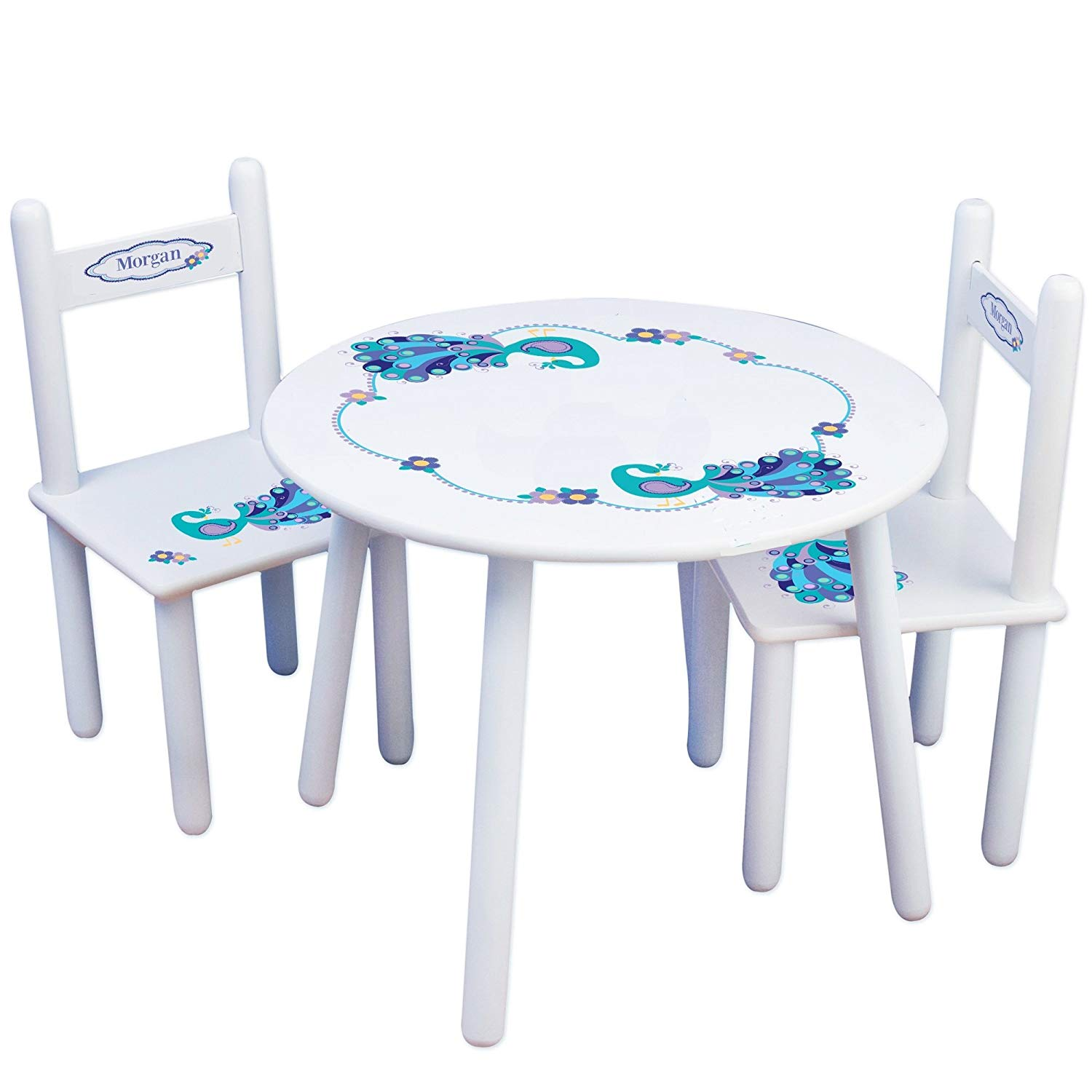 Get Quotations · MyBambino Personalized Peacock Childrens Table And Chair  Set
