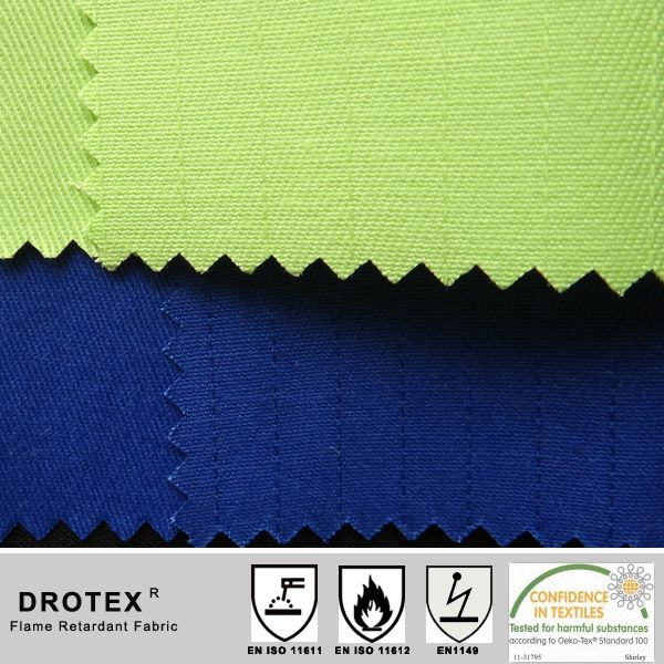 GREEN antifire antistatic twill fabric