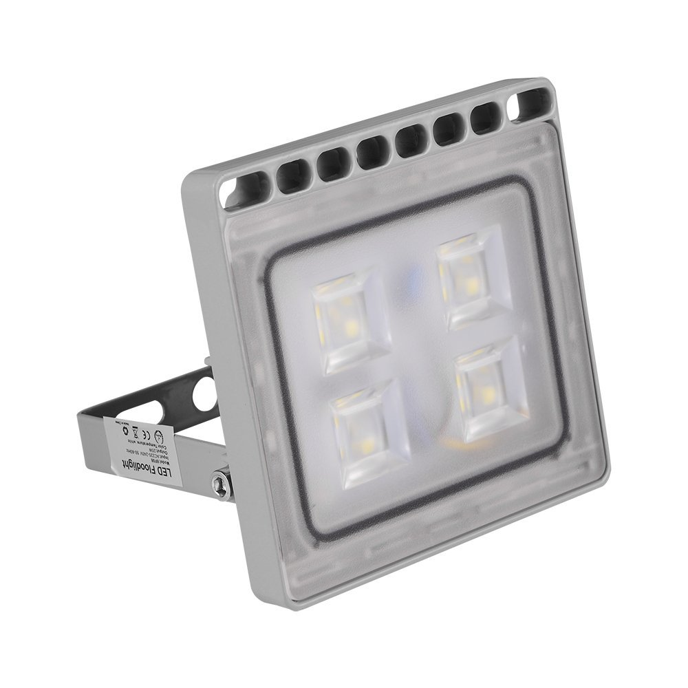[10W 20W 30W 50W 100W LED Floodlight Warm Light / Cold Light] Luerme LED Flood Light Outdoor Security Light Waterproof IP65 Ultra-thin Lamp for Residential/Commercial Use (20W Cold White)