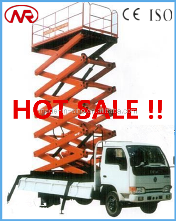cherry picker truck mounted scissor lift work table