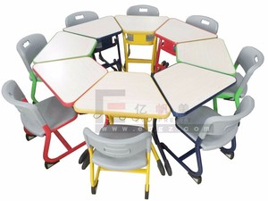 Space saving school furniture table studies, nursery table and chair