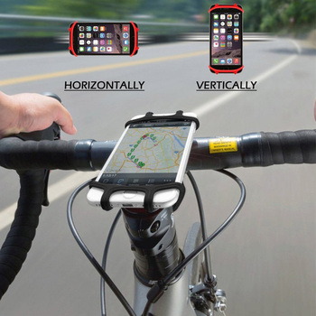 Factory Direct Supply Silicone Bike Mount Mobile Cell Phone Holder for Bicycle
