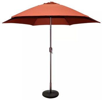 tropic shade 9-feet bronze aluminum market rust polyester umbrella 9 Foot Umbrella Base