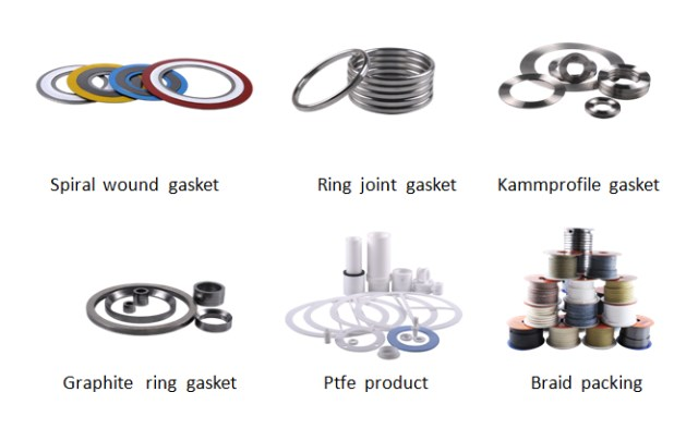 Monel 400 temel tip PTFE spiral sargı conta