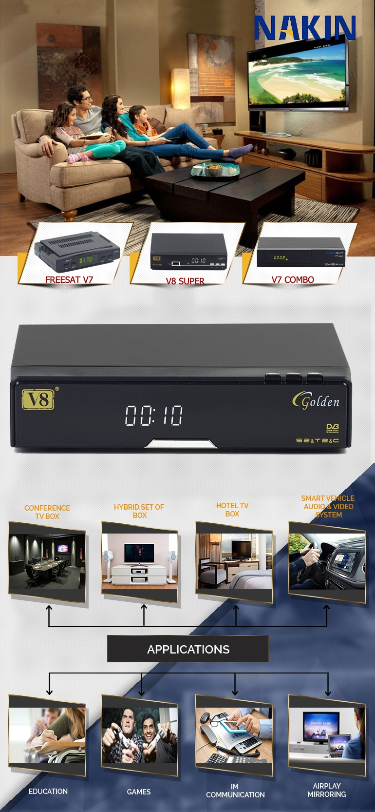 Free To Air Satellite Decoders V8 Golden K1 Plus Dvb S2 Dvb T2 Set Top Box  Mpeg2 Dvb-t2 Modulator - Buy K1 Plus Dvb S2 Dvb T2,Mpeg2 Dvb-t2