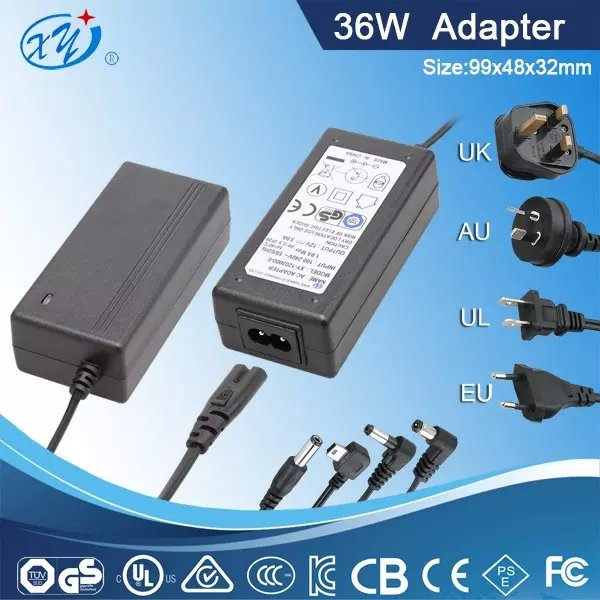 12V 3A power supply laptop type for computer with UL GS BS SAA KC approval