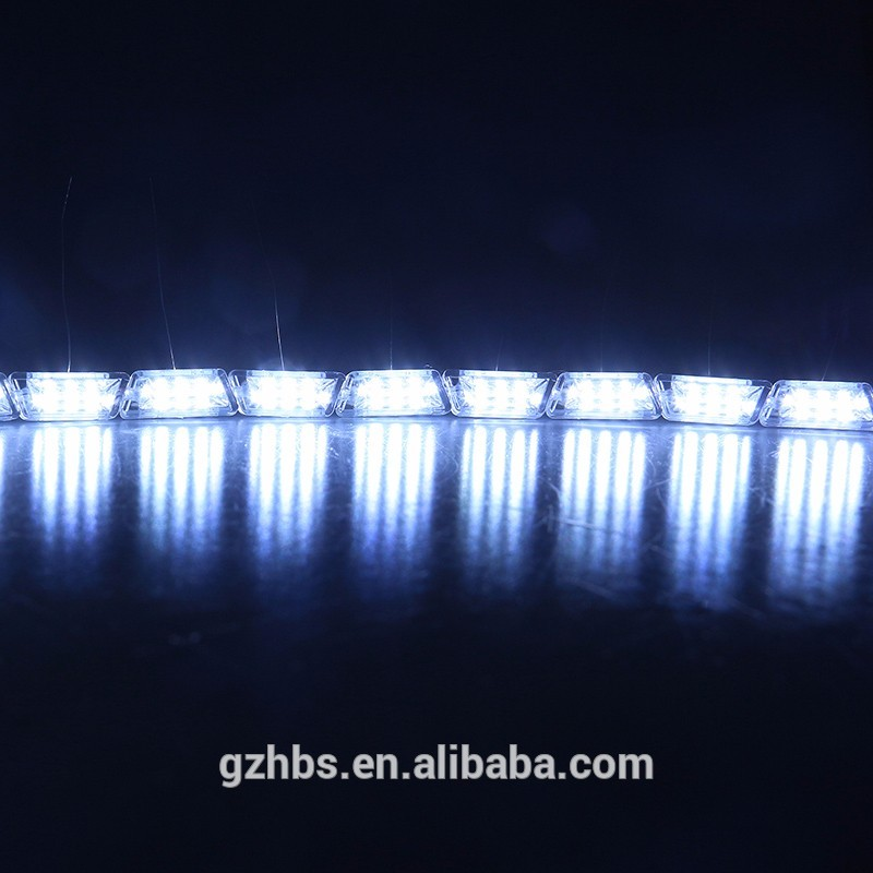 Faro de coche ojo rasgado doble Color 16 LED DRL tira Flexible luz intermitente coche 5050 tira led