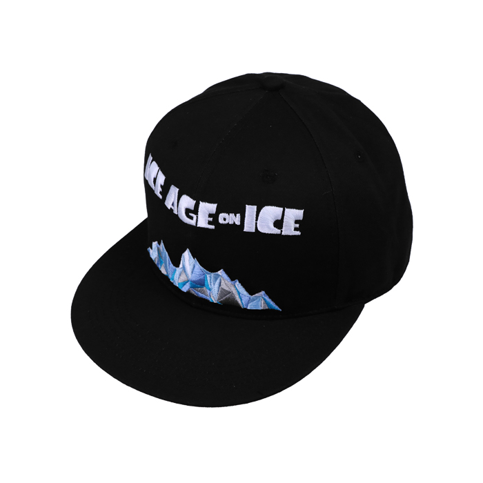 Custom Design Black 6 Panel Embroidery Snapback Caps/Hats