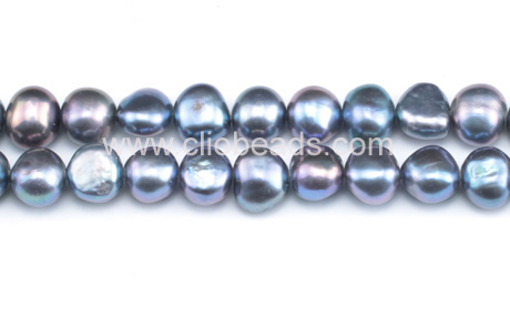 Peacock Blue Nugget Freshwater Pearl Loose Beads Strand