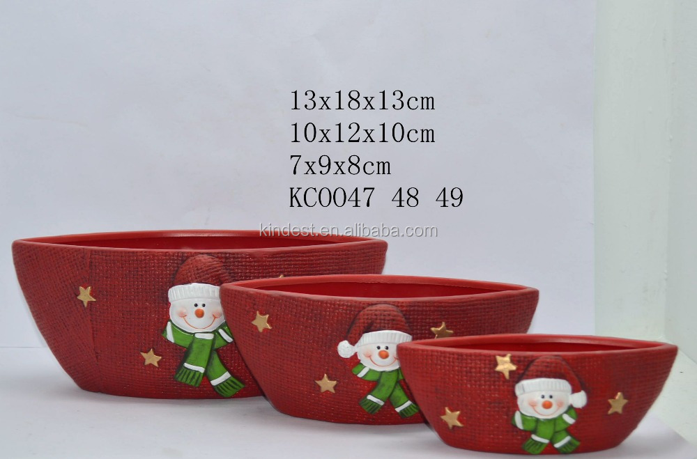 Christmas ceramic candy plate,candy tray