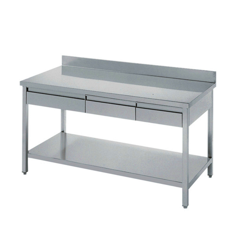 Stainless Steel Industry Kitchen Work Table Drawers Bench With Drawer Product On