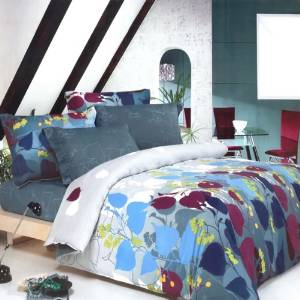 Blancho Bedding - [Grapevine Leisure] 100% Cotton 5PC MEGA Duvet Cover Set (Twin Size)