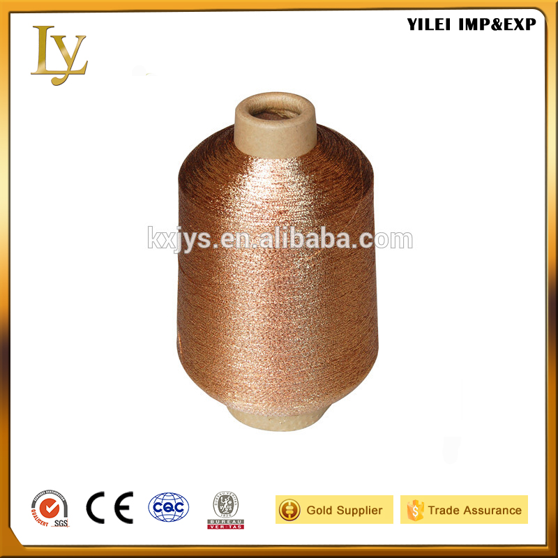 Mx type metallic yarn for weaving knitting and embroidery