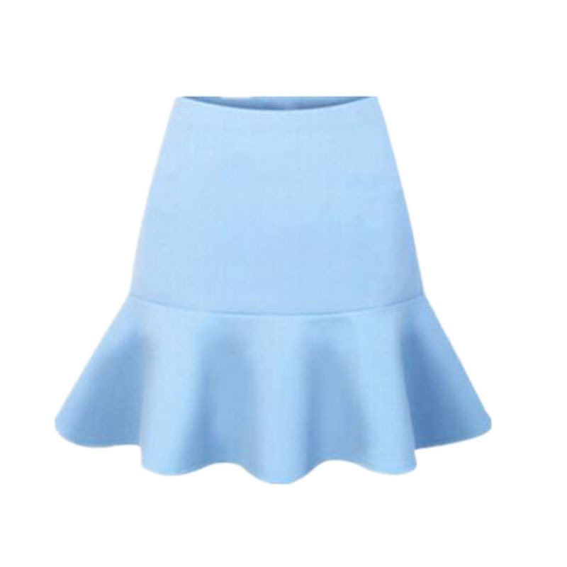 Skirts Womens Rushed 2015 New Arrival Summer Women Brand Vintage Party High Waisted Sheer Skirt Female Solid Color Skirts
