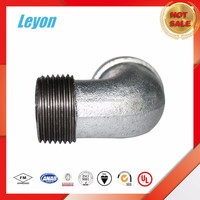 Malleable Iron bends fem street elbows 45 degree bandedable