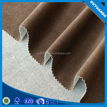 Polyester Tricot Catonic Twill Dyed Fabrics Sofa Warp Knitting Fabric Bonded with TC
