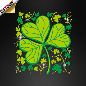 Customized Saint Patrick's Day Printing Vinyl Heat Transfer Motifs iron on the heat transfer