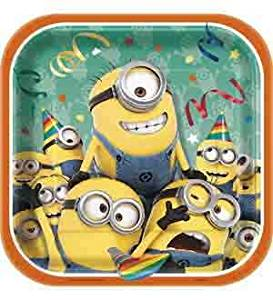 Despicable Me Minions Plate (S) 8ct [Contains 5 Manufacturer Retail Unit(s) Per Amazon Combined Package Sales Unit] - SKU# 43134