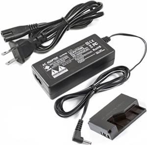 AC Power Adapter Kit for Canon ACK-E15 EOS Rebel SL1 100D SLR Camera 8624B002