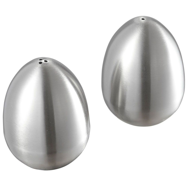Stainless Steel Egg Shaped Salt Pepper Shaker Table Server Kitchen Gadgets Herb Spice Tools