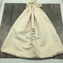 Large custom printed drawstring suede dust cover for handbags