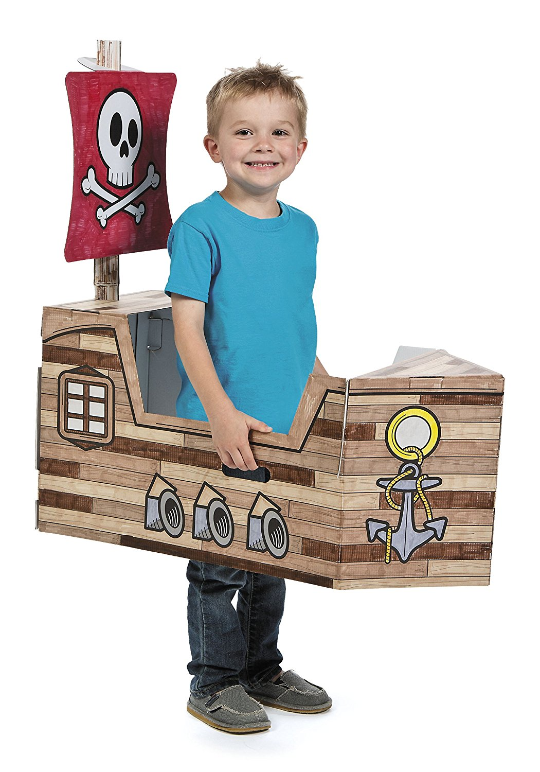 Buy Pirate Ship Coloring Cardboard PlayHouse, Life Size ...
