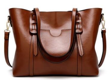 Роскошные дизайнерские женские сумки на плечо, кожаные большие вместительные сумки из масляной кожи, сумки через плечо для женщин, сумки ...(Китай)