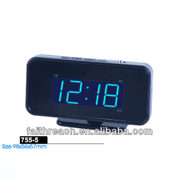 Low price!!! 12V led cars alarm clock