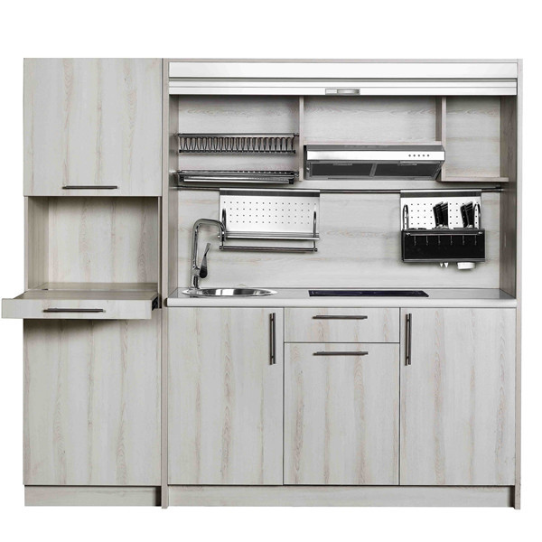 2014 modern modular aluminium kitchen cabinet doors design for Kitchen set aluminium