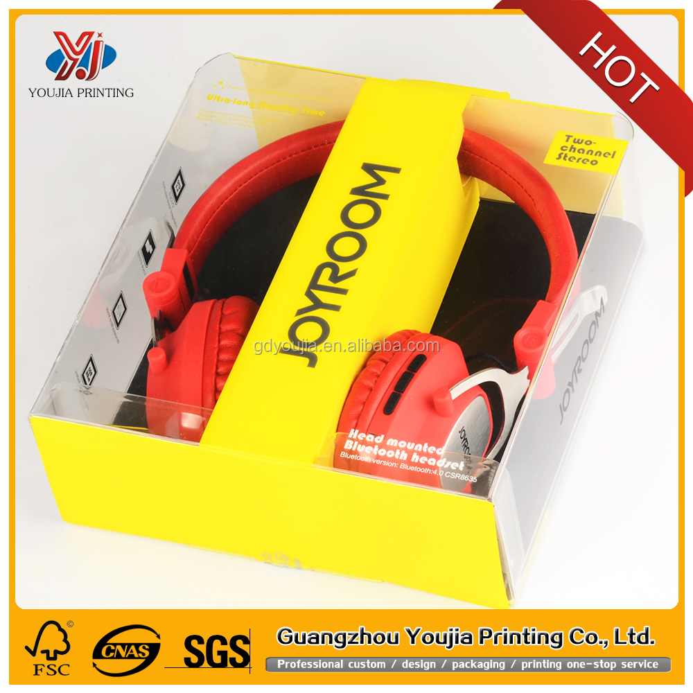 blister big headphone packaging consumer electronics plastic packing box