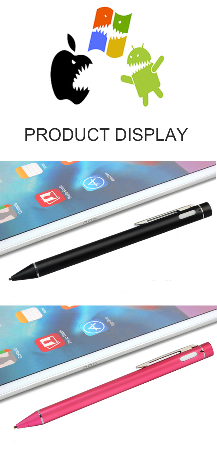 Rechargeable capacitive touch screen stylus active touch pen