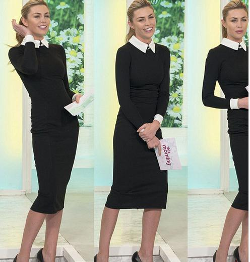 Europe fashion style winter/autumn long sleeve women dress splicing slim elegant formal office lady dress