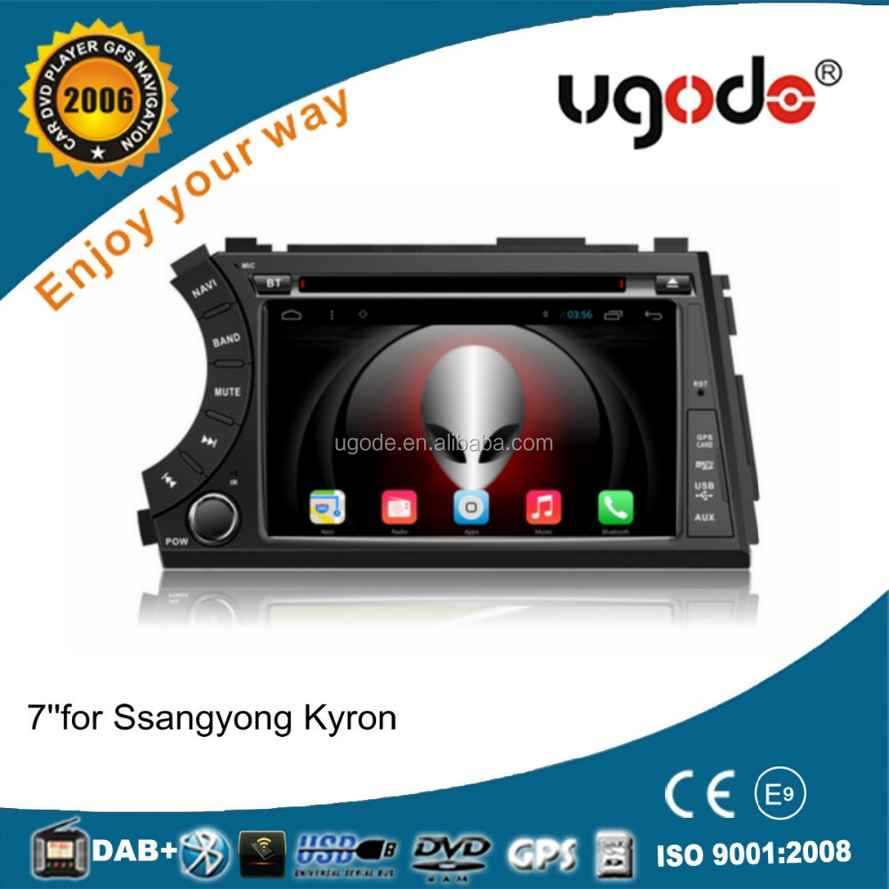 ugode car player android dashboard placement car radio for ssangyong actyon kyron