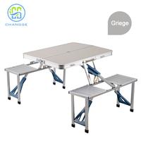 Aluminum alloy outdoor table folding, beer garden set