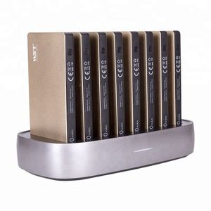 Portable polymer battery 8000mah power bank mobile charging docking station public