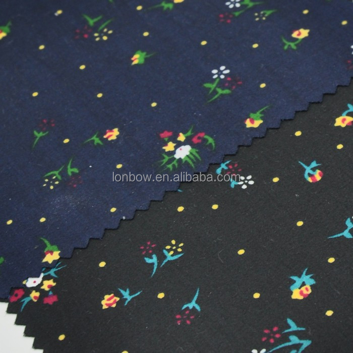 Floral stock fabric for shirting 100% cotton