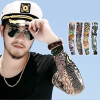 Custom Design Compression Forearm Elastic Sun Protection Waterproof Nylon Tattoo Arm Sleeves