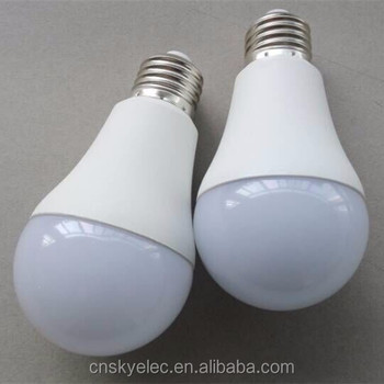 Led Plastic Lamp Bulb Cover E27 Led Light Bulb Battery Powered Led