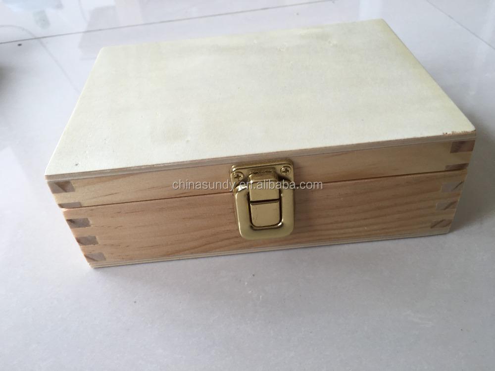 barato pequeo cajas de madera sin terminar para la artesana