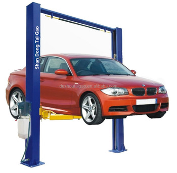 4T China factory gantry 2 post hydraulic car garage pillar car lift