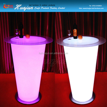 new design nightclub used portable illuminated led table for bar for party
